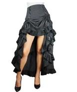Renacimiento 3 Capas Cola Falda Negro Gótico Victoriano Steampunk Sexy Punk - $79.75+