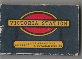 Vtg Strike on Match Box with local ad & sticks ~ Victoria Station Restau... - $9.89