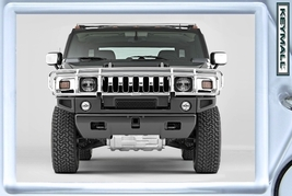 KEYTAG BLACK HUMMER H2 KEY CHAIN NEW PORTE CLE ... - $9.95