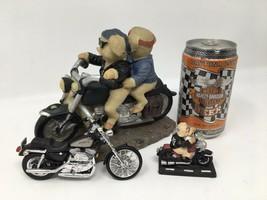 4 Harley Davidson Motorcycle Collectibles Daytona 1994 Beer Maisto Die C... - $18.69