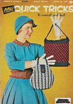 "Coats & Clark, Inc ""Quick Tricks"" Vintage 1954 - Crochet/Knit - Gently Used - $6.00"