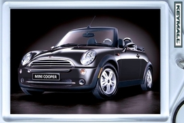KEYTAG BLACK NEW MINI COOPER KEY CHAIN PORTE CLE CONVERTIBLE PORTACHIAVI... - $9.95