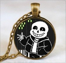 Grinning Undertale Character Cabochon Necklace >> Combined Shipping - $6.68