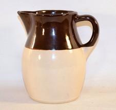 Vintage Roseville Pottery R.R.P. Co. USA Brown & Beige Pitcher Jug - $11.88