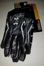 Under Armour UA Bolt Football Gloves Size XXL Gameday Twice Sticky 2XL New - $24.74
