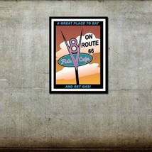 Flo's V8 Cafe - Cars / Disney Pixar Inspired - Movie Art Poster - $8.86+