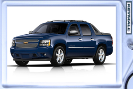 KEYTAG BLUE CHEVY AVALANCHE NEW KEY CHAIN RING ... - $9.95