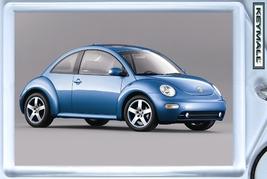KEYTAG BLUE VW NEW BEETLE VOLKSWAGEN KEY CHAIN LLAVERO SCHLÜSSELANHÄNGER БР - $9.95