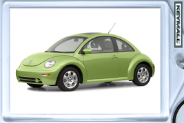 KEYTAG CYBER GREEN VW NEW BEETLE VOLKSWAGEN BUG COX KEY CHAIN RING HTF P... - $9.95