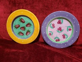 """Essex Collection Fruit Punch set of 2 salad plates 8 1/4"""" - $17.77"""
