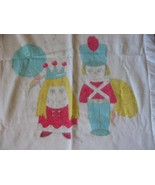 Vintage Wamsutta Guard & Queen Baby Blanket Royal Family  - $40.00