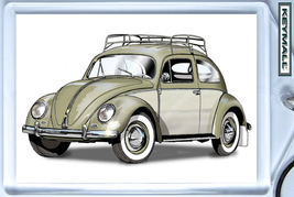 KEYTAG PALE GREEN VW OLD BEETLE VOLKSWAGEN BUG VOLKSWAGON KEY CHAIN PORT... - $9.95