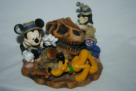 "Disney Clock Animal Kingdom"" Big Dig In The Boneyard"" Mickey Pluto Goofy - $18.73"