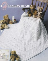 Hexagon Hearts, Annie's Crochet Afghan & Quilt Pattern Leaflet QAC357-02... - $14.95