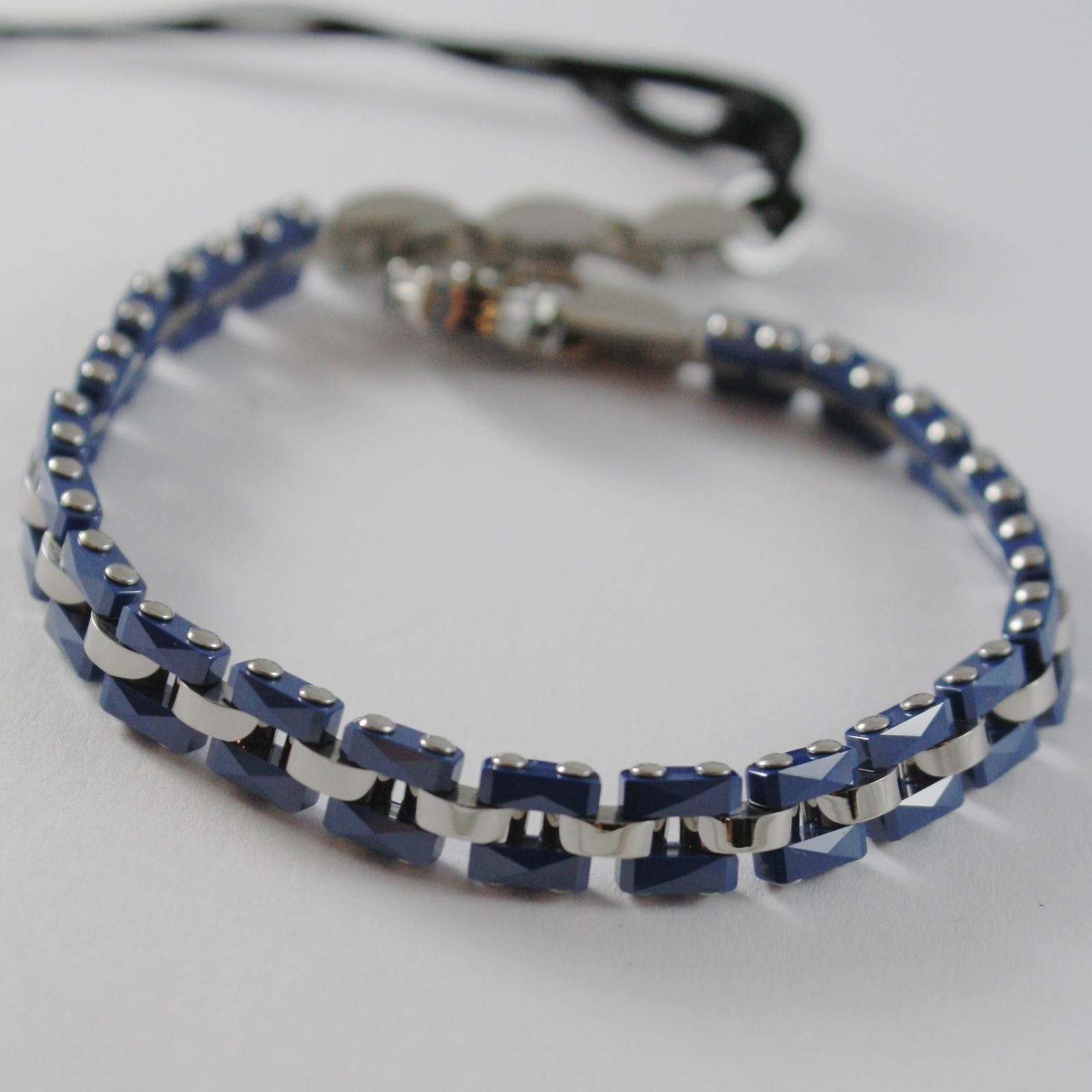 STEEL BRACELET WITH CERAMICS BLUE CESARE PACIOTTI 4US ARTICLE 4UBR1416