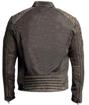 Iron Head Distressed Men's Vintage Café Racer Leather Jacket image 3
