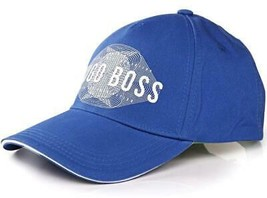 NEW HUGO BOSS MEN'S PREMIUM ADJUSTABLE COTTON SPORT LOGO HAT CAP COBALT 50294635