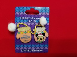 Disney Pin Happy Hoidays 2015 Resort Mittens Boardwalk Minnie Mouse LE 750 - $27.99
