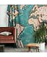 """Ocean Current Map Tapestry 4040 Locust 84"""" x 100"""" Cotton Urban Outfitters - $24.18"""