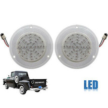 58 59 Chevy Pickup Truck Red LED Tail Brake Park Light Lamp Clear Lens Pair - $64.95