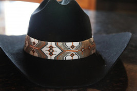 Cheyenne Native American Style Wide Hat Band Beaded Hatband - $230.00