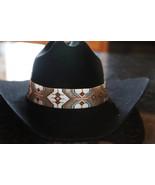 Cheyenne Native American Style Wide Hat Band Beaded Hatband - $210.00
