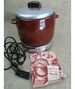 Vintage  West Bend  Bean Pot Model #3295E w/heat base cord & manual - $19.15