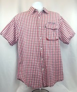 Tommy Hilfiger Men's Red Flannel Plaid Button-Down Shirt Medium - $9.55