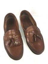 Bass Mens Loafers Size 9 M Brown Kiltie Tassel Casual Slip On Dress Shoes - $38.87