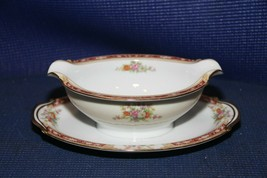 """Noritake China 7-1/2"""" Gravy Boat with Attached 9"""" Liner Plate  - $19.55"""
