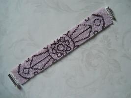 Bracelet: Pink Mandala, Peyote Stitch, Tube Clasp - $39.00