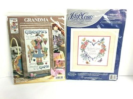 2 Design Works and Coats Cross Stitch Kits Grandma's Game Mothers Love New - $39.59