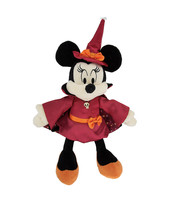 Disney Parks Minnie Mouse as Witch Halloween 11 inch Plush Doll NEW - $32.90