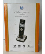 AT&T CL80111 Accessory Cordless Handset ONLY, Black/Silver NIB - $15.79