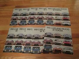 10 Toyota 1981 car truck auto Dealer showroom Sales Brochure catalog 90 ... - $36.99