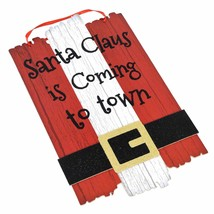 """Santa Claus is Coming to Town Christmas Hanging Decor Sign 9""""X15"""" w - $6.99"""
