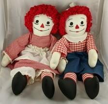 "Raggedy Ann Andy Doll 24"" Homemade Stuffed Animal Toy  - $28.98"