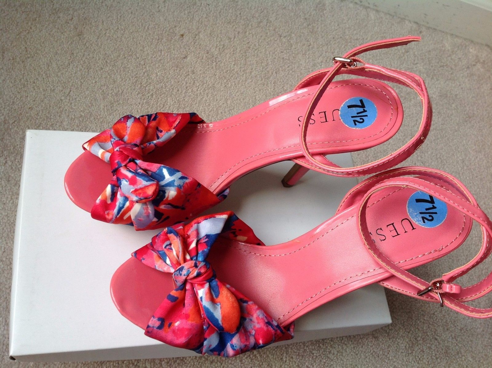 6b0760163 GUESS Women s Pink Ankle Strap Platform Bow and 50 similar items. 57