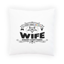 No Need Google My Wife Knows Pillow Cushion Cover v896p - $12.02+