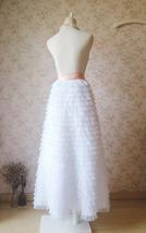 WHITE Long Tulle Skirt White Layered Tulle Skirt White Wedding Skirt image 3