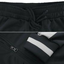 vkwear Men's Striped Athletic Running Jogging Gym Slim Fit Sweat Track Suit Set image 4