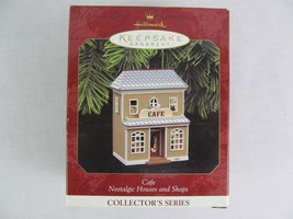 Hallmark Keepsake Ornament Cafe Nostalgic Houses And Shops 1997 Christmas  - $12.86