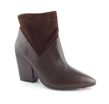 New VINCE CAMUTO Size 9.5 RAYLAN Brown Leather Ankle Boots Booties 9 1/2 - $79.00
