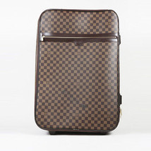 "Louis Vuitton Damier Ebene Coated Canvas ""Pegase 65"" Suitcase - $2,210.00"