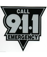 """EMERGENCY CALL 911 HIGHLY REFLECTIVE VEHICLE DECAL  4"""" BLACK AND SILVER ... - $5.89"""