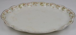 Vintage Homer Laughlin China Hudson Pink Floral Pattern Oval Serving Pla... - $39.99
