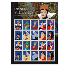 Walt Disney Villains Sheet of 20 Forever First Class Postage Stamps By U... - $21.29