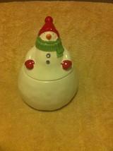 HALLMARK--SNOWMAN-- CANDY / COOKIE JAR--FREE SHIP-VGC - $20.23