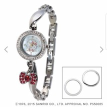 938bfdea5 Hello Kitty Wrist Watch Natural Diamonds Red Ribbon 2014 Sanrio Japan New  F/S -