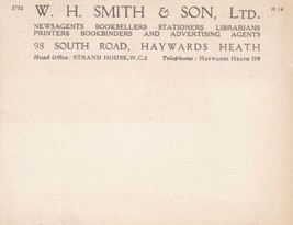 W. H. Smith & Son Ltd. South Rd Haywards Heath Branch Blank Post Card Re... - $7.59